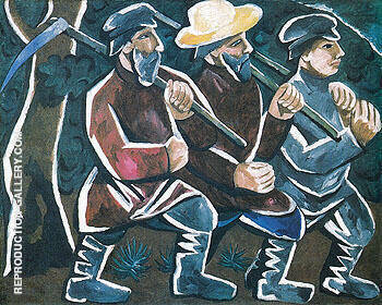 Mowers 1911 By Natalia Goncharova