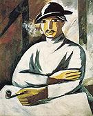 Smoker Tray Painting Style 1911 By Natalia Goncharova