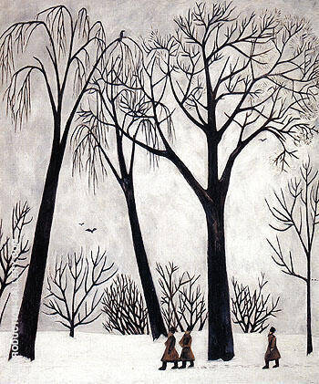 Winter 1911 By Natalia Goncharova Replica Paintings on Canvas - Reproduction Gallery
