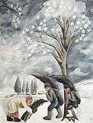 Winter Collecting Brushwood 1911 By Natalia Goncharova