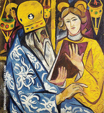 Prelate 1911 By Natalia Goncharova