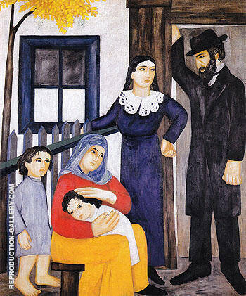 Jewish Family 1912 Painting By Natalia Goncharova - Reproduction Gallery