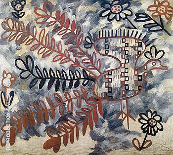 Peacock Russian Embroidery Style 1910 By Natalia Goncharova