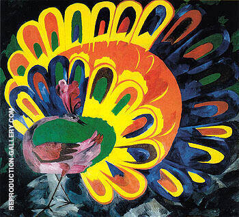 Peacock under a Bright Sun 1911 By Natalia Goncharova