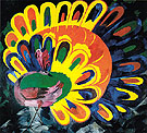 Peacock under a Bright Sun 1911 By Natalia Goncharova