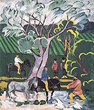 Bathing Horses 1911 By Natalia Goncharova