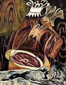 Still Life with Ham and Duck 1912 By Natalia Goncharova