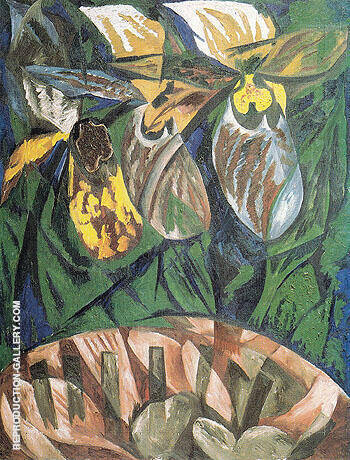 Orchids 1913 By Natalia Goncharova - Oil Paintings & Art Reproductions - Reproduction Gallery