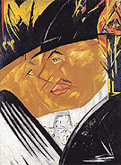 Portrait of Mikhail Larionov 1913 By Natalia Goncharova