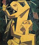 Peasants Picking Grapes c1913 By Natalia Goncharova