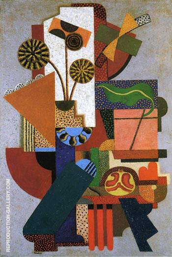 Composition 1916 By Auguste Herbin Replica Paintings on Canvas - Reproduction Gallery
