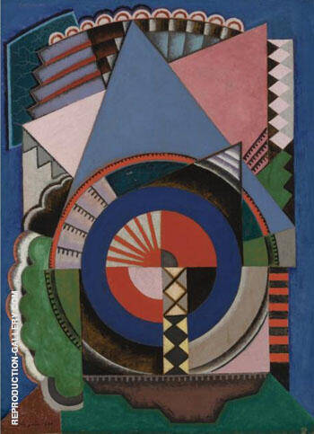 Composition 1920 By Auguste Herbin Replica Paintings on Canvas - Reproduction Gallery