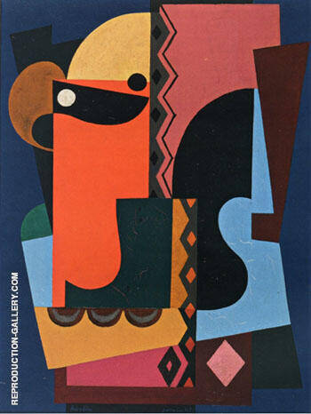 Composition 1921 By Auguste Herbin Replica Paintings on Canvas - Reproduction Gallery