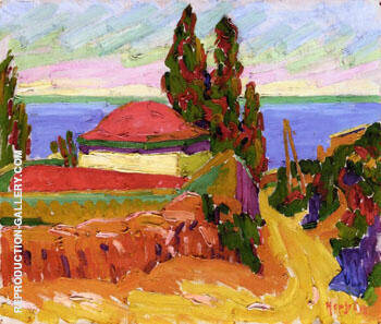 Corsican Landscape 1907 By Auguste Herbin Replica Paintings on Canvas - Reproduction Gallery