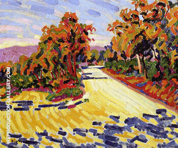 Corsican Landscape A 1907 Painting By Auguste Herbin