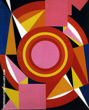 Diable c1958 By Auguste Herbin Replica Paintings on Canvas - Reproduction Gallery
