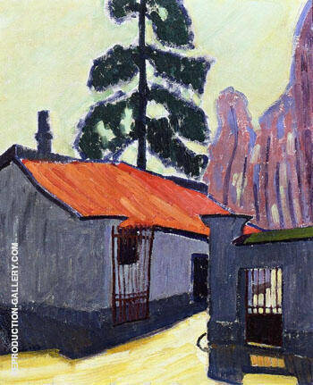 Entrance to The Corbeau Mill 1908 By Auguste Herbin Replica Paintings on Canvas - Reproduction Gallery