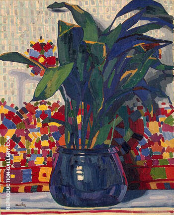 Flowers c1906 By Auguste Herbin Replica Paintings on Canvas - Reproduction Gallery