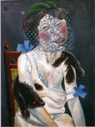 Lady with Mink and Veil 1920 By Otto Dix