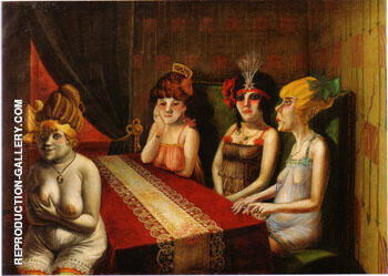 The Salon I 1921 By Otto Dix