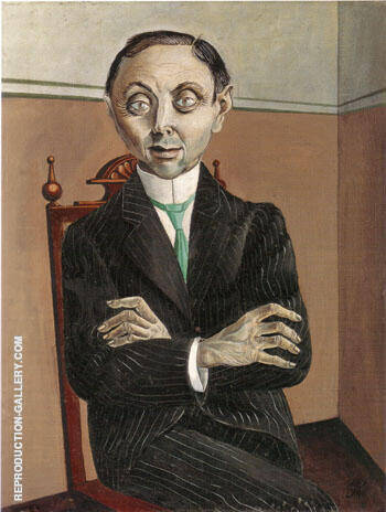 Dr Paul Ferdinand Schmidt 1921 By Otto Dix - Oil Paintings & Art Reproductions - Reproduction Gallery