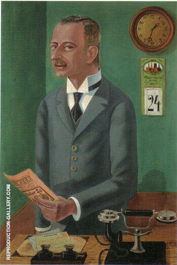 The Businessman Max Roesberg Dresden 1922 By Otto Dix - Oil Paintings & Art Reproductions - Reproduction Gallery