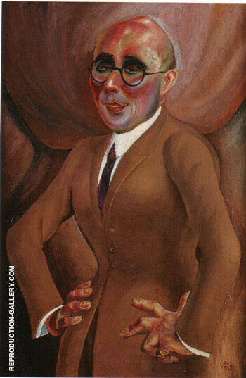 The Jeweler Karl Krall 1923 By Otto Dix - Oil Paintings & Art Reproductions - Reproduction Gallery