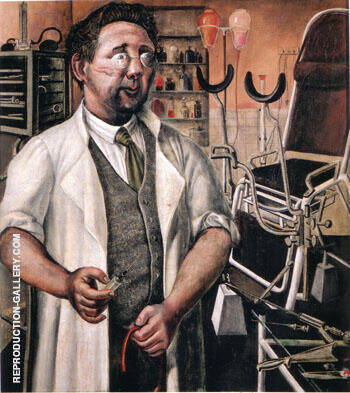 Dr Hans Koch 1921 By Otto Dix