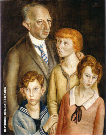 The Lawyer Dr Fritz Glaser and Family 1925 By Otto Dix