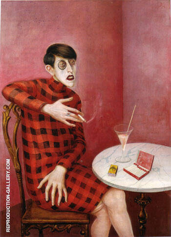 The Journalist Sylvia von Harden 1926 By Otto Dix