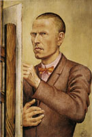 Self Portrait with Easel 1926 By Otto Dix