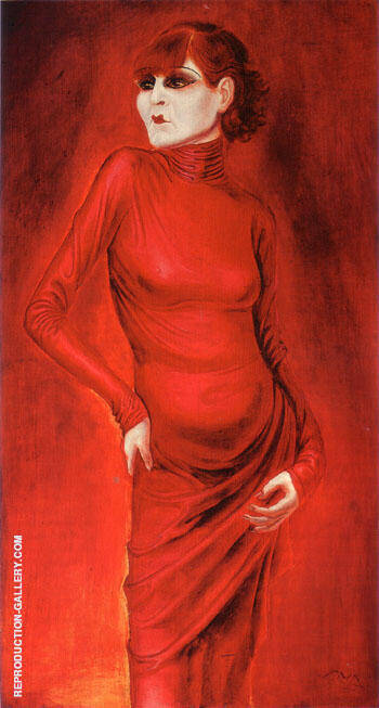The Dancer Anita Berber 1925 By Otto Dix