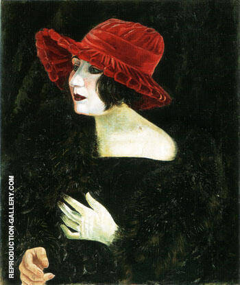 Martha Dix 1923 By Otto Dix Replica Paintings on Canvas - Reproduction Gallery