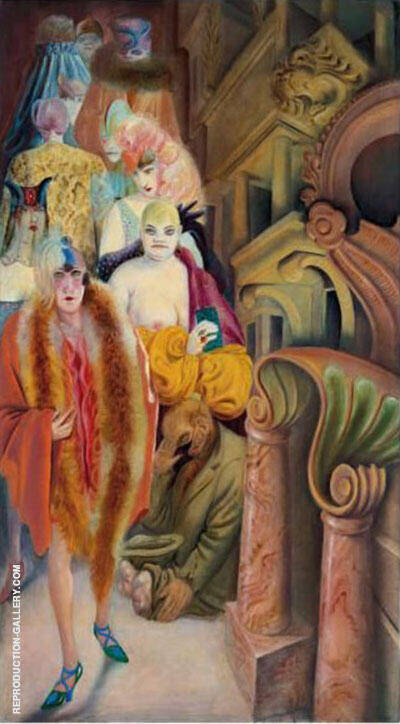 Metropolis Die Grosstadt 1928 Right Panel Painting By Otto Dix
