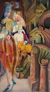 Metropolis Die Grosstadt 1928 Right Panel By Otto Dix