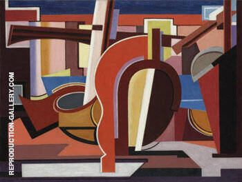 La Barque 1927 Painting By Auguste Herbin - Reproduction Gallery