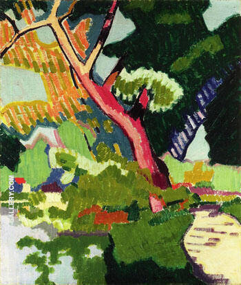 Landscape of a Waterway 1907 By Auguste Herbin