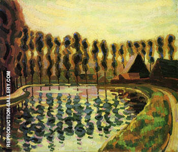 Landscape with Poplars 1907 By Auguste Herbin