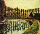 Landscape with Poplars 1907 By Auguste Herbin