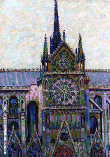 Notre Dame de Paris 1903 Painting By Auguste Herbin - Reproduction Gallery