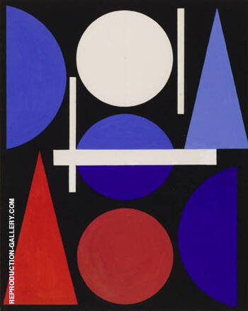 Nude 1960 By Auguste Herbin Replica Paintings on Canvas - Reproduction Gallery