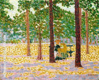 Park in Paris 1904 Painting By Auguste Herbin - Reproduction Gallery