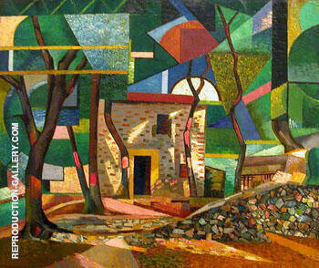Paysage de Ceret 1913 Painting By Auguste Herbin - Reproduction Gallery