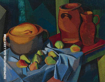 Reproduction of Pots et Fruits c1910 by Auguste Herbin | Oil Painting Replica On CanvasReproduction Gallery