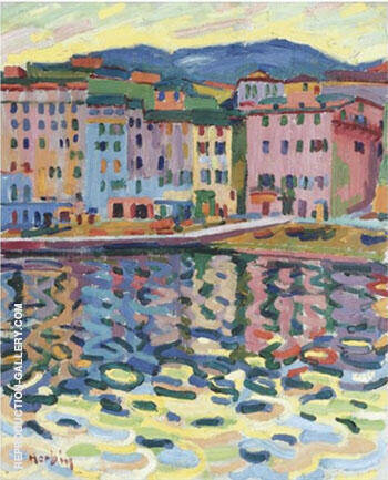 Reproduction of Quai du Port de Bastia 1907 by Auguste Herbin | Oil Painting Replica On CanvasReproduction Gallery