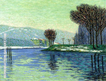 Snow at Haut Isle 1906 By Auguste Herbin