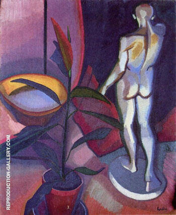Still Life 1909 Painting By Auguste Herbin - Reproduction Gallery