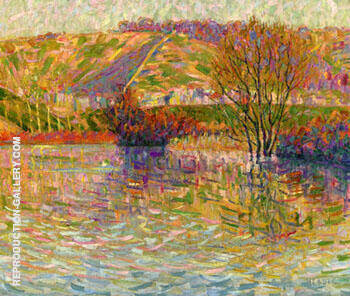The Coast at Haute Isle c1906 By Auguste Herbin Replica Paintings on Canvas - Reproduction Gallery