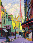 The Place Maubert in Paris 1907 By Auguste Herbin