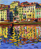 The Quays of The Port of Bastia 1907 By Auguste Herbin